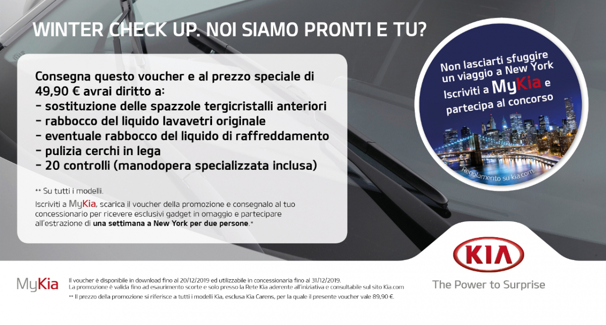 WINTER CHECK UP. NOI SIAMO PRONTI E TU?
